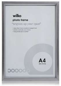 ** Photo Frame Chunky Silver A4 only £1 @ Wilko (Free CnC) **