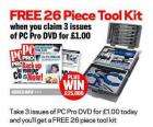 Another Offer for 3 Issues of PCPro DVD Edition and Free 26 Piece ToolKit For £1