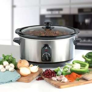 3.5L Brushed Chrome Slow Cooker £14.99 at Lakeland