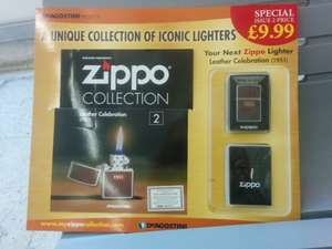 Zippo leather lighter 2nd edition £9.99 @ WH Smith