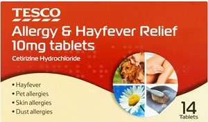 Cetrizine Hydrochloride 14 tablets for 40p @ Tesco
