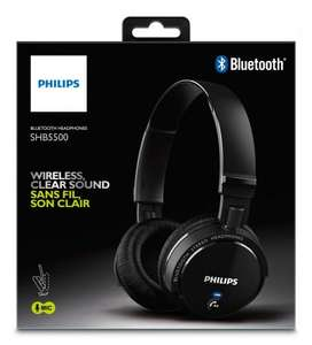 Philips SHB5500BK/00 Wireless Bluetooth Folding Bluetooth Headphones Black - £24.99 @ Amazon FEE DEL