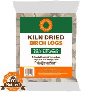 Kiln Dried Birch Logs (10kg Bag) £3.99 home bargains