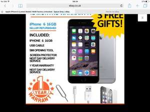 iPhone 6 refurb £355.99 @ ebay /  universalgadgets01