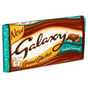Galaxy Salted Caramel 135g Bar - 65p @ Heron
