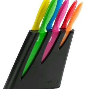 zyliss 6 piece non stick coloured knife block set only £12.99 @ home bargains. £40 elsewhere
