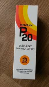 Sun tan lotion P20 bought this in Tesco Gateshead Trinity Square for £3.32