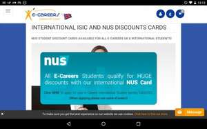 Amazing discounts with an NUS card inc Amazon Prime. E-careers Course £29 @ groupon