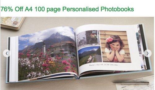 Photobox, 76% Off A4 100 page Personalised Photobooks £24.98