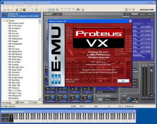 Free EMU Proteus VX incl. v2 Proteus X Composer Bank - Music Production Software