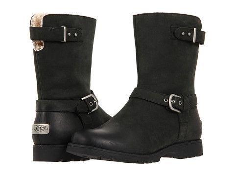 Ugg Australia Grandle black leather waterproof boots - £78.40 delivered @ Coggles