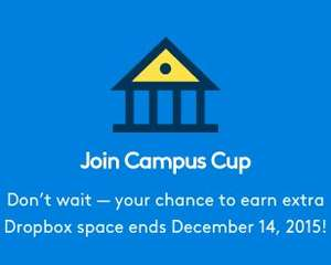 Dropbox offering 25GB free space for students/those with academic email address