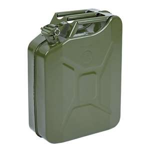 Jerry Can Metal Petrol Oil Carrier Container 20L £6.99 @ Trueshopping Ebay