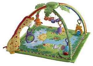 Fisher Price Rainforest Deluxe Melodies & Sounds Baby Playmat, £32.50 delivered or c&c at Tesco Direct