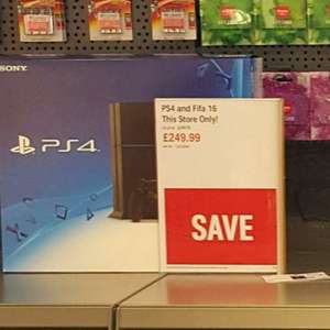 PS4 +Fifa £249.99 in store Argos Drumchapel Glasgow