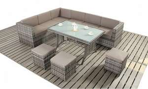 Rattan Sofa Dining Set in Choice of Colour £499.99 @ Groupon