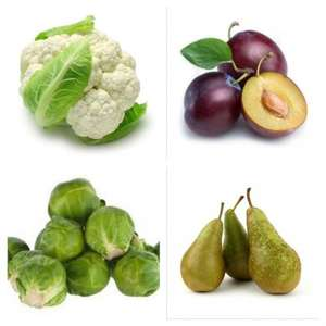 This Week's Lidl Fresh Offer - 1kg Conference Pears, 500g Plums, Cauliflower Loose, 500g Brussels Sprouts - all for £0.69 @ Lidl from 8th