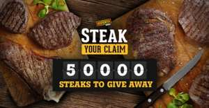 Free steak at Beefeater grill when another main meal is purchased so basically BOGOF