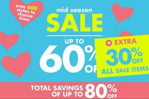 Pumpkin Patch sale of up to 60% + additional 30% on all sale items
