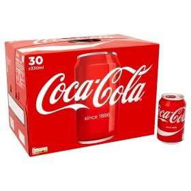 30 Pack Coca Cola/Diet Coke/Coke Zero £7.00 at ASDA, £6.00 at some ASDA stores
