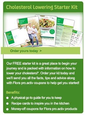 Free Cholesterol Lowering Starter Kit @ floraproactiv