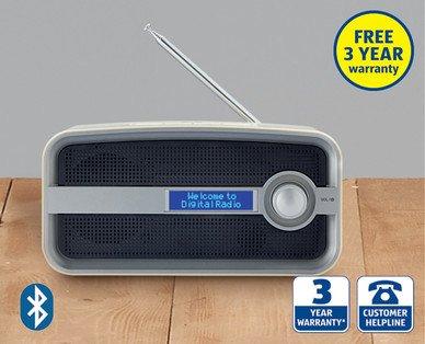 DAB and FM Bluetooth Radio £24.99 @ Aldi