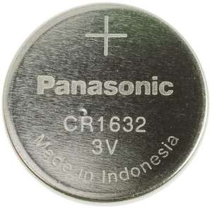 Panasonic CR1632 3V Lithium Battery £1.27 with free delivery @ RS Components