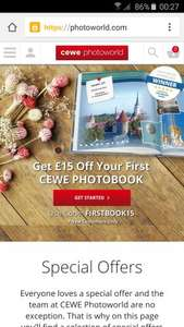 Cewe photobook £4.25 @ Photoworld