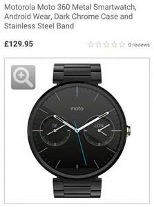 Motorola Moto 360 Metal Smartwatch, Android Wear, Dark Chrome Case and Stainless Steel Band £129.95 @ John Lewis