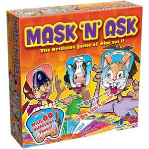 Drummond Park Mask 'n' Ask Board Game £6.50 (Prime) / £11.25 (non Prime) @ Amazon down from £13 Tesco C&C and Amazon