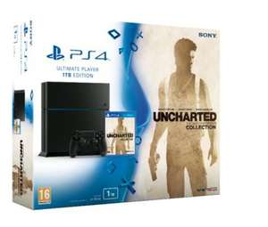 PS4 1TB Console (Newest CUH-1216 C Chassis Model) + Uncharted Collection Hard Copy £289 @ Tesco Direct