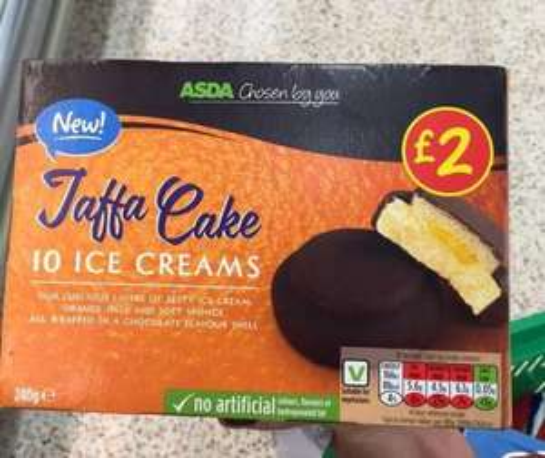 Jaffa Cake Ice Creams 10 pack 75p @ Asda Instore