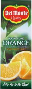 Del Monte Pure Smooth Orange Juice or with Juicy Bits (1L) was £1.40 now 70p @ Ocado