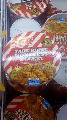 SFC boneless chicken bucket 650 grams £3.49 @ home bargains