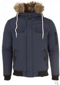 Deutschland Mens Navy Winter Jacket With Fur Trim Hood (was £60.99) Now £19.99 delivered at Eto Jeans
