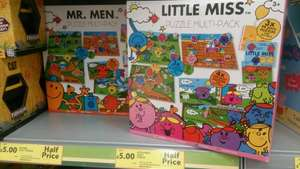 Mr Men and Little Miss Puzzles £5 @ Tesco in store