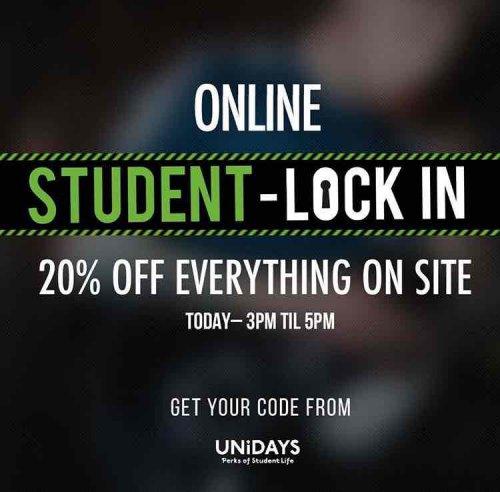 20% off @ Footasylum *STUDENTS ONLY* via Unidays