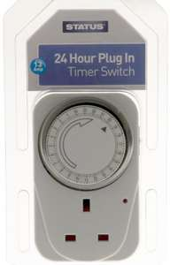 Status 24 Hour Plug In 13amp Segment Timer Only £1.99 @ Home Bargains