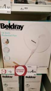 Beldray 16 inch pedestal fan  £4.95 Wilko in Store