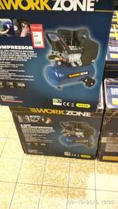 Workzone compressor 2.5 hp reduced from 89.99 to £49.99 @ Aldi
