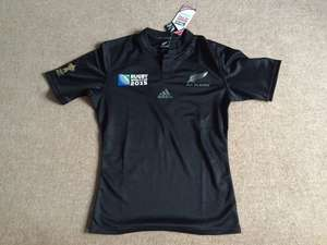 Adidas All Blacks Rugby World Cup 2015 Shirt + Free Scarf £53.48 delivered @ Lovell Rugby