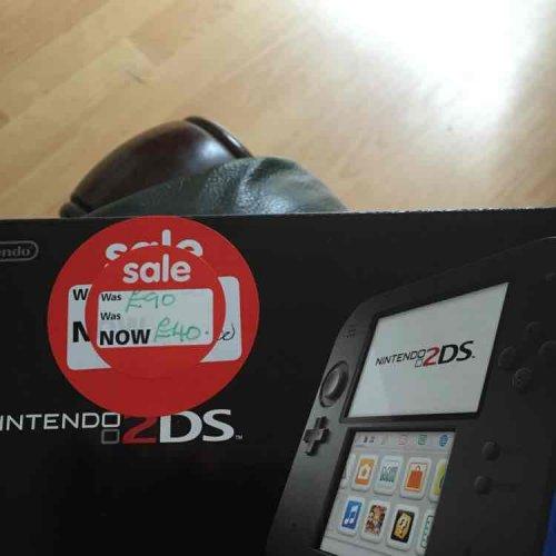 Nintendo 2DS console was £90 now £40 @ Asda Instore