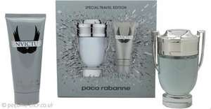 Paco Rabanne Invictus Gift Set 100ml EDT + 100ml All Over Shampoo £42.40 from Perfume Click