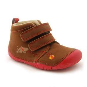 Fetch, Brown Nubuck Boys Riptape Leather Pre-walkers (Was £27) Now £14.00 delivered at Startrite Shoes