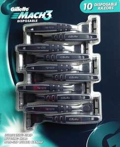 Gillette Mach3 Disposable Razors, pack of 10 £8.91 at Costco