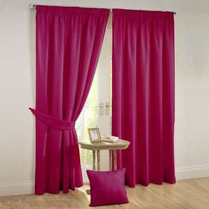 Julian Charles Rectella Sunset Pink Thermal Backed Pencil Pleat Faux Silk Lined Curtains £10.50