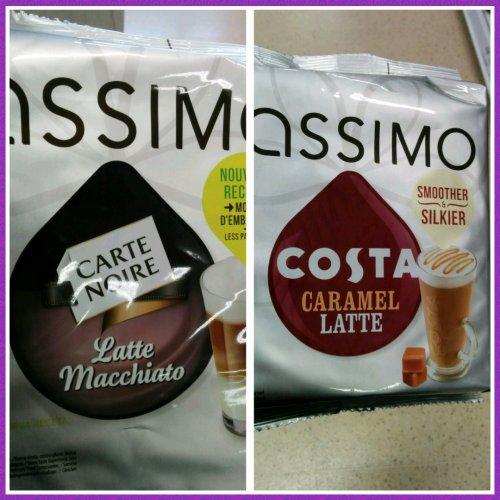 Tassimo Carte Noire Latte Macchiato and Costa Caramel Latte new small size packs £4.29 @ Tesco.