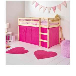 Pink Tent for Shorty Mid Sleeper Bed Frame was £24.99 now £5.99 @ Argos