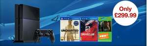 Playstation 4, PS4 C Chassis, includes Uncharted 4, Driveclub and NOW TV 3 months entertainment pass £299.99 at GAME