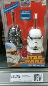 Star Wars Walkie Talkies (Clone Trooper & Darth Vader) £3.75 - RRP £15 Instore @ Tesco